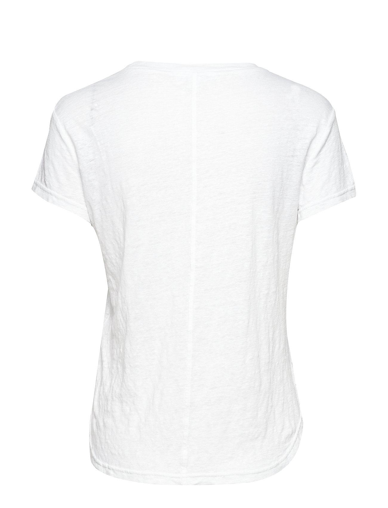 FRAME    CLASSIC LINEN CREW  - T-Shirts & Tops    BLANC