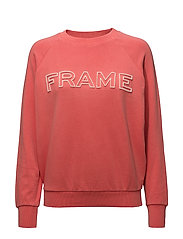 FRAME RAGLAN SWEAT - FADED SUMMER RED