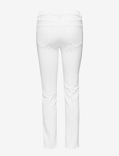 Frame Le High Straight- Jeans Blanc