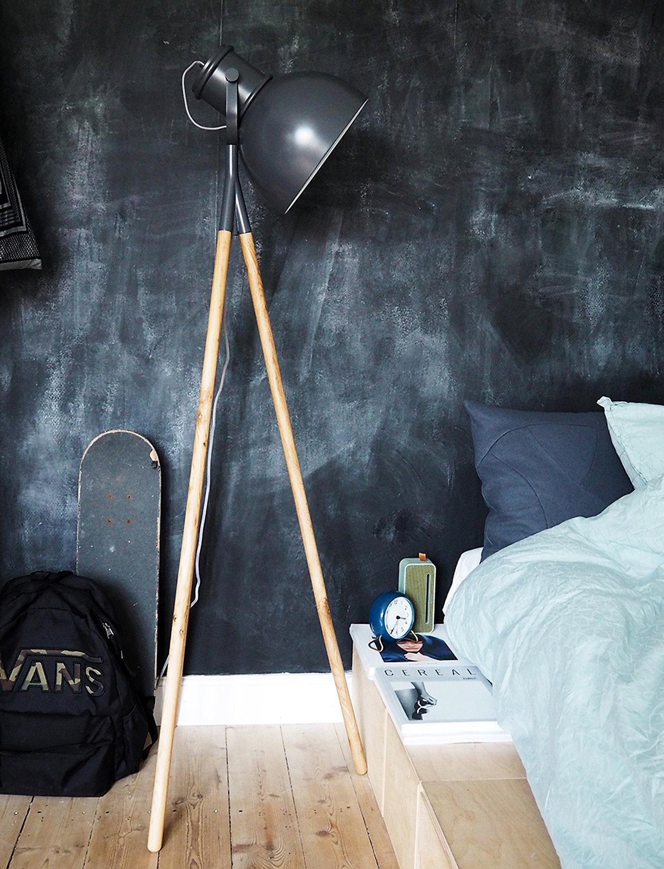 Frandsen Lighting - Industry Spot floor lamp - gulvlamper - matt grey/oak - 0