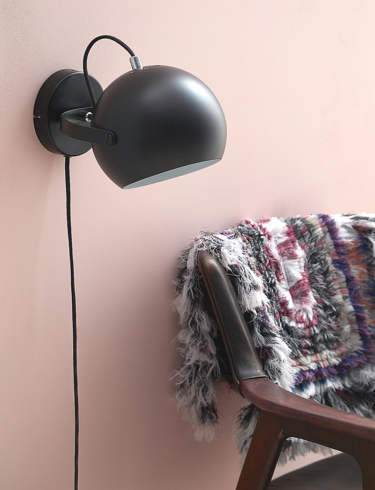 Frandsen Lighting - Ball wall lamp With Handle - vegglamper - matt black - 1