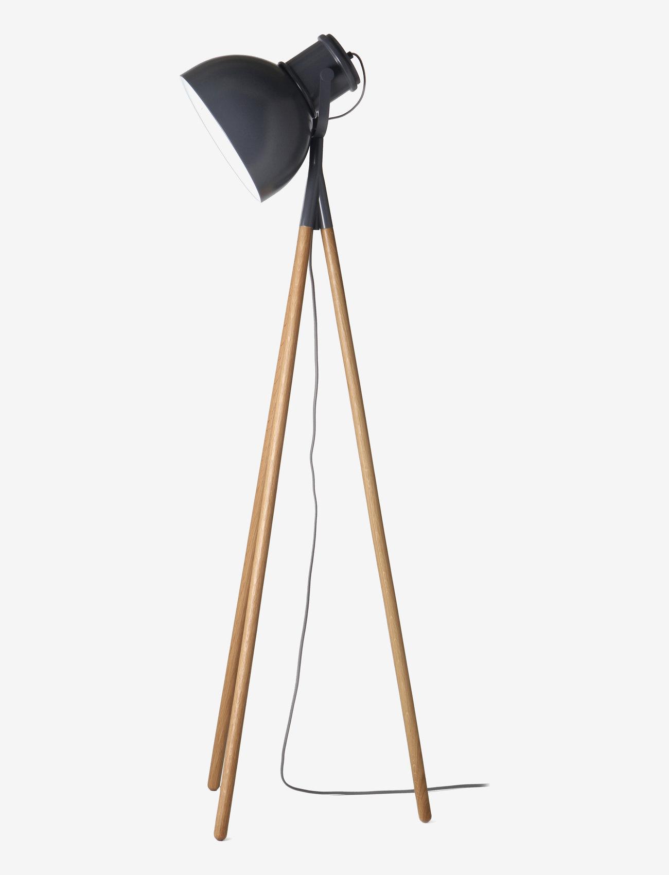 Frandsen Lighting - Industry Spot floor lamp - gulvlamper - matt grey/oak - 1
