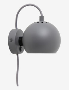Ball - vegglamper - matt light grey