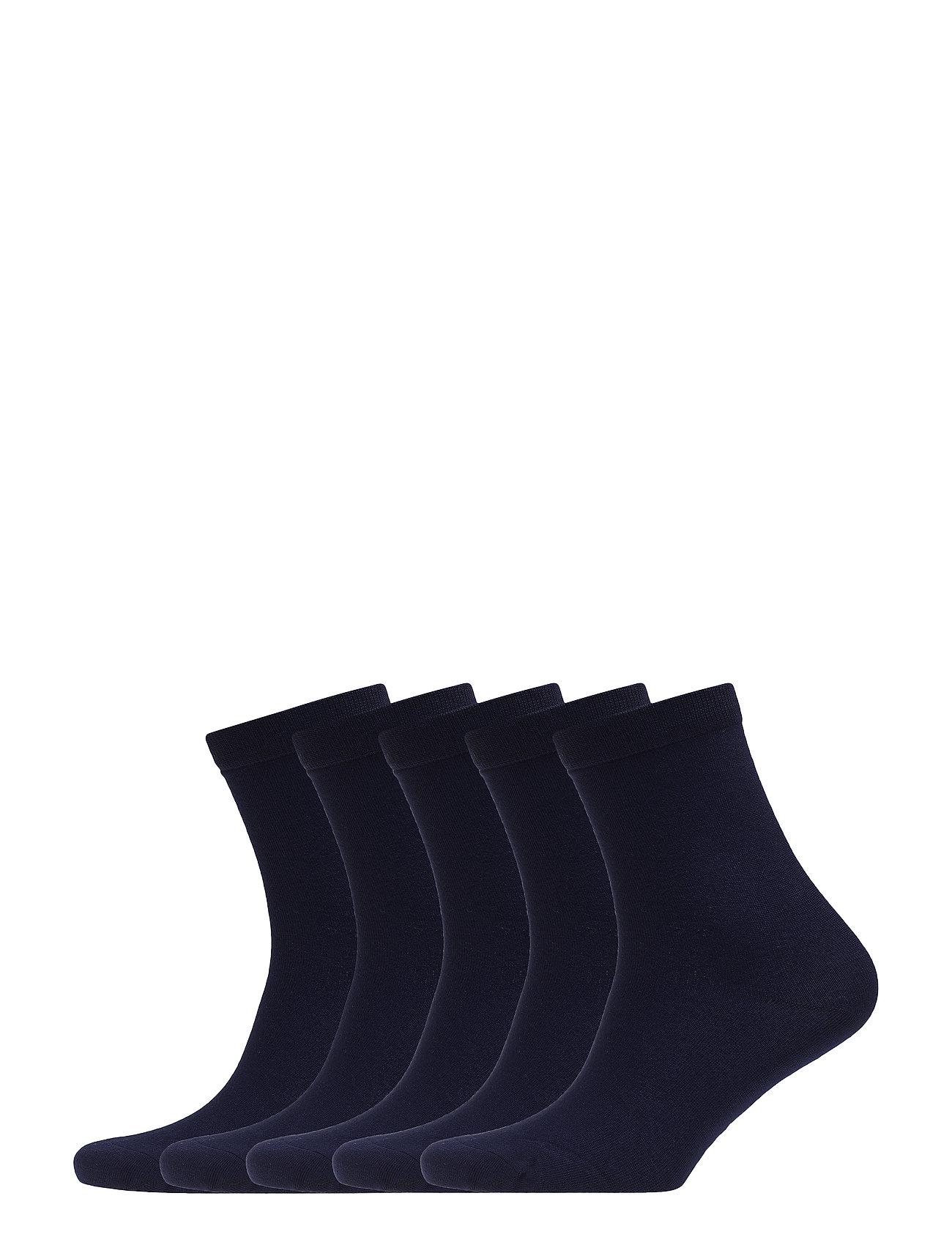Frank Dandy 5P Bamboo Solid Crew Sock - DARK NAVY