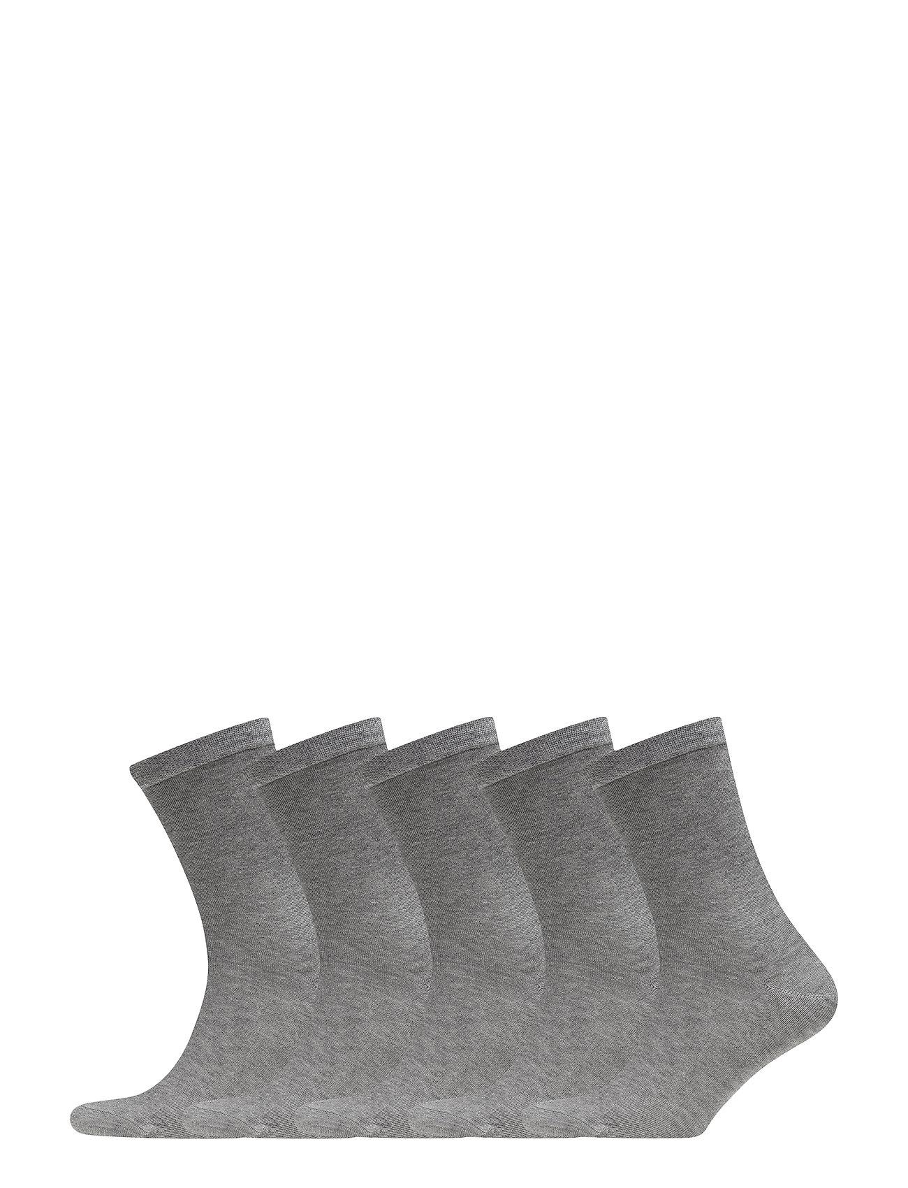 Frank Dandy 5P Bamboo Solid Crew Sock - GREY MELANGE