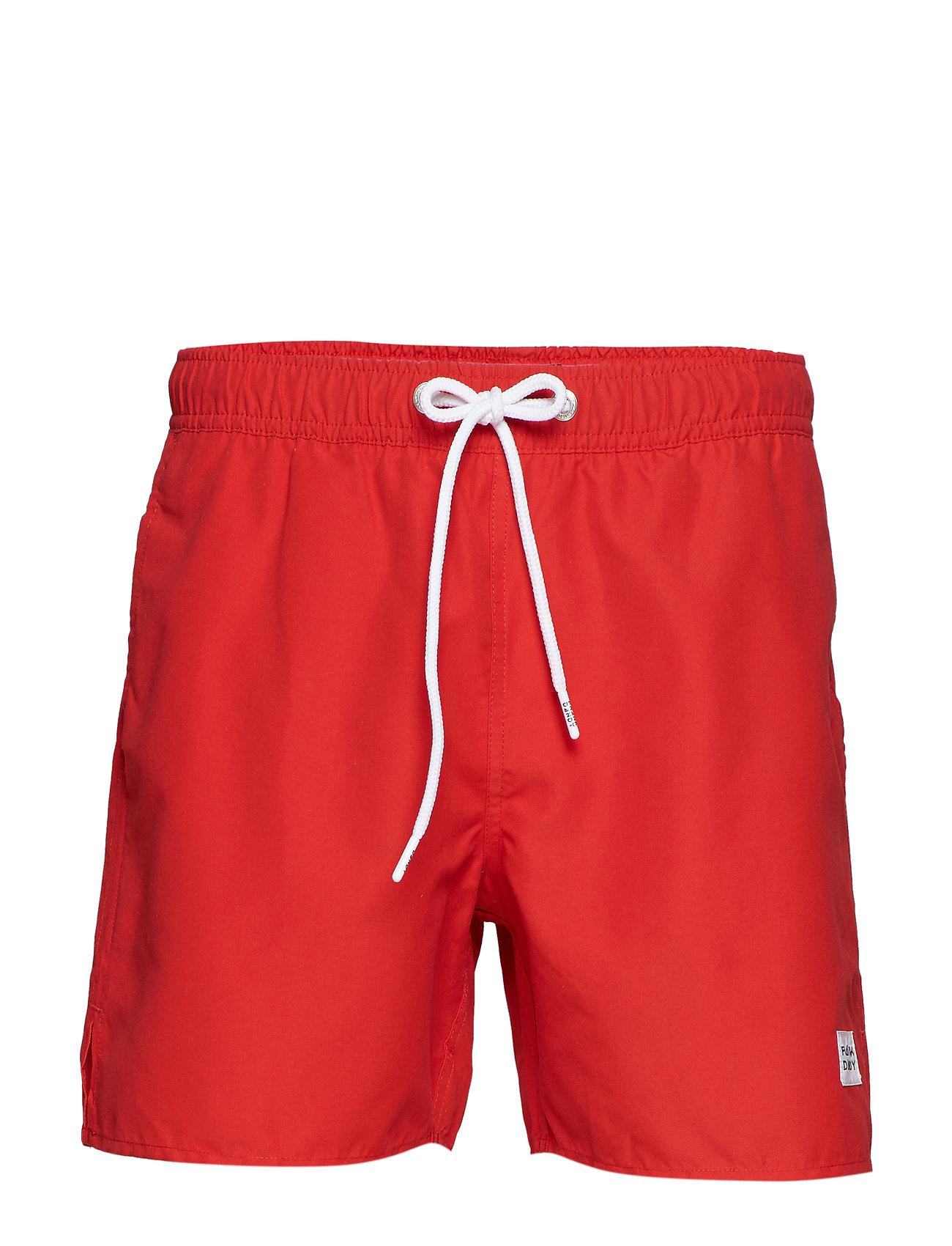 Frank Dandy Breeze Long Swim Shorts - RED