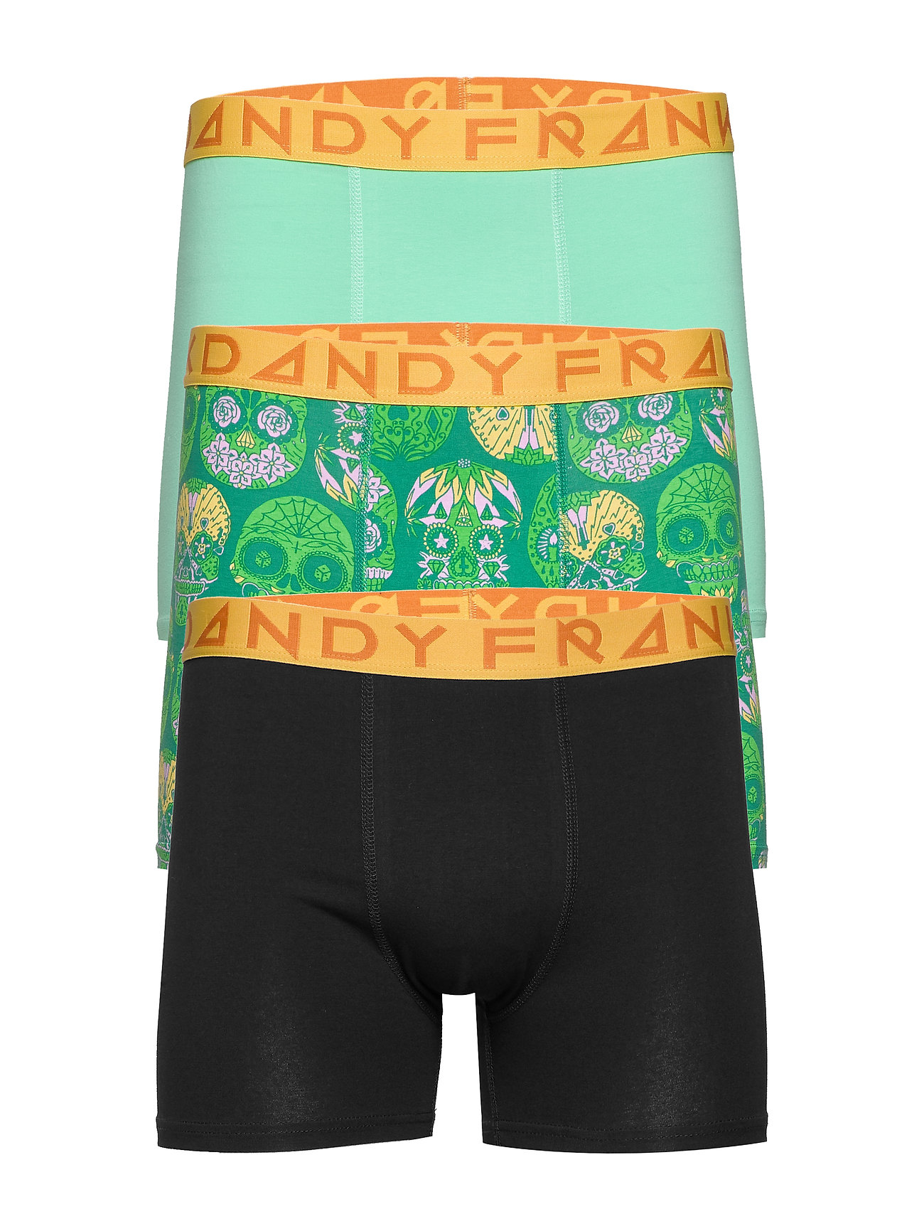 Frank Dandy 3 Pack Calaveras Boxer - DK GREEN/GREEN/BLACK