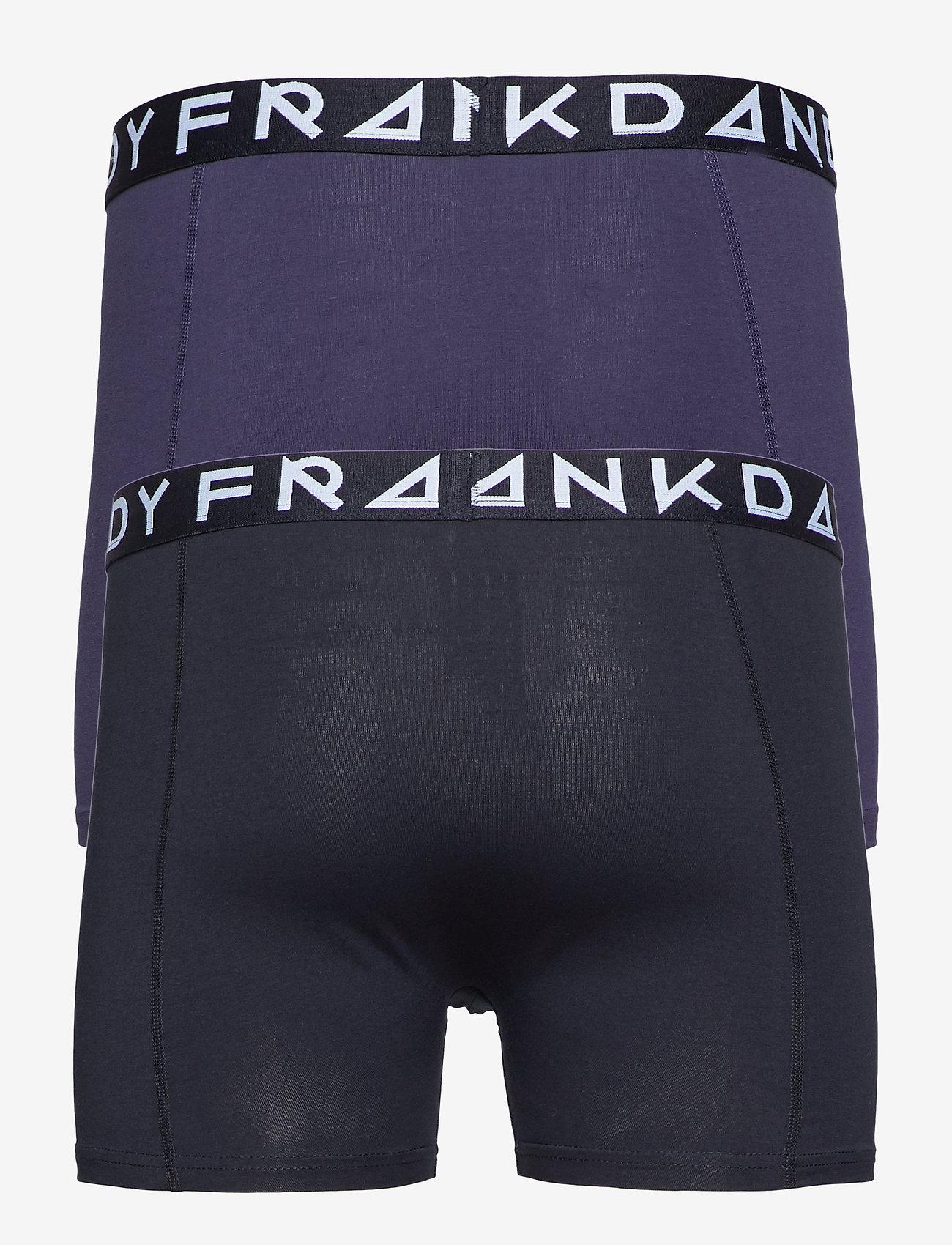 Frank Dandy - 2 Pack Solid Boxer - boxers - black/dark navy - 1