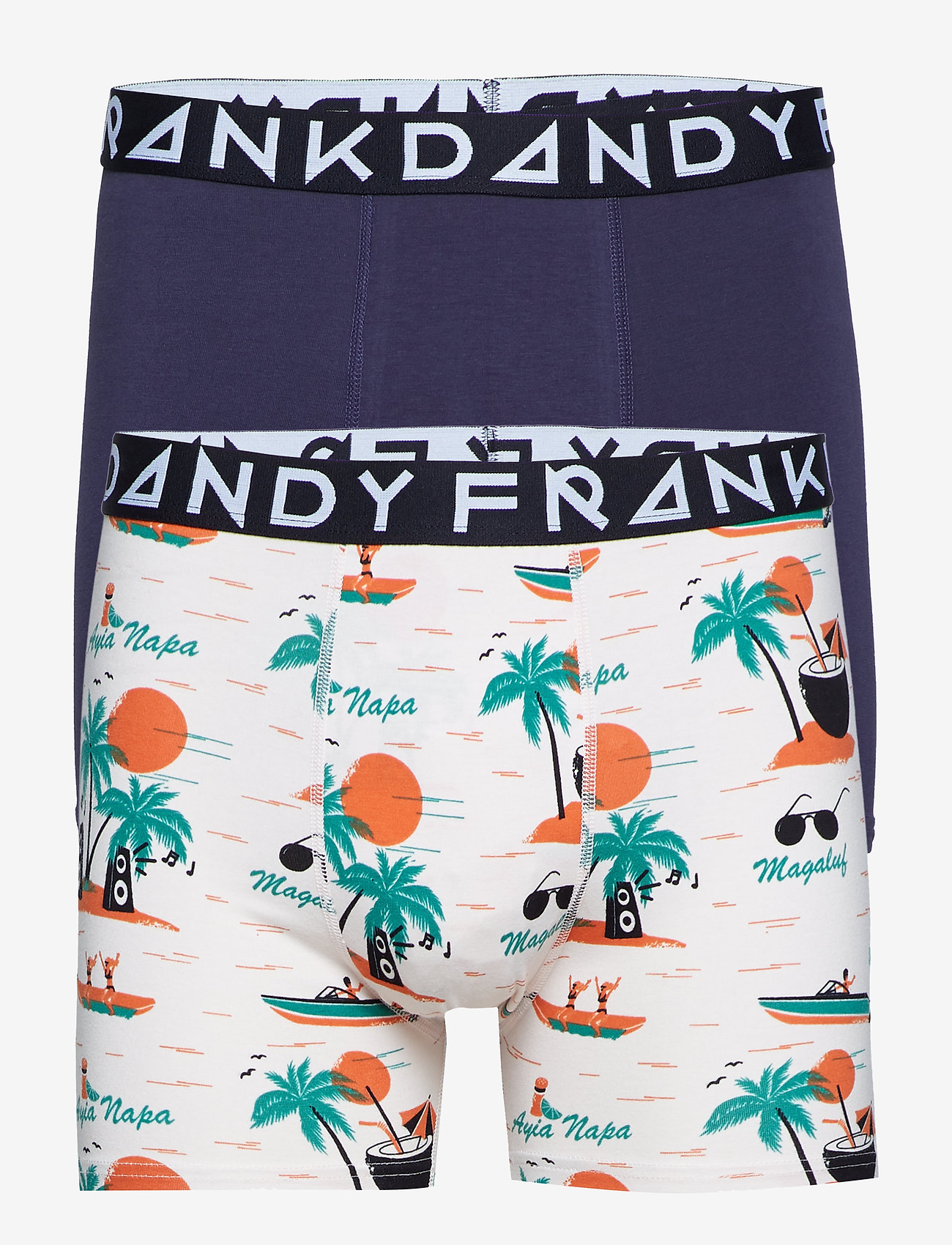 Frank Dandy - 2 Pack Magaluf Boxer - boxers - beige/navy - 0