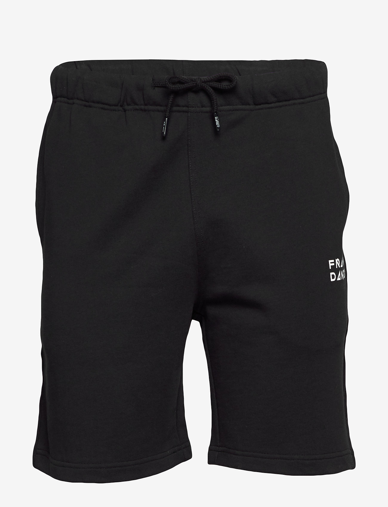 Frank Dandy - Unisex Solid Sweat Shorts - casual shorts - black - 0