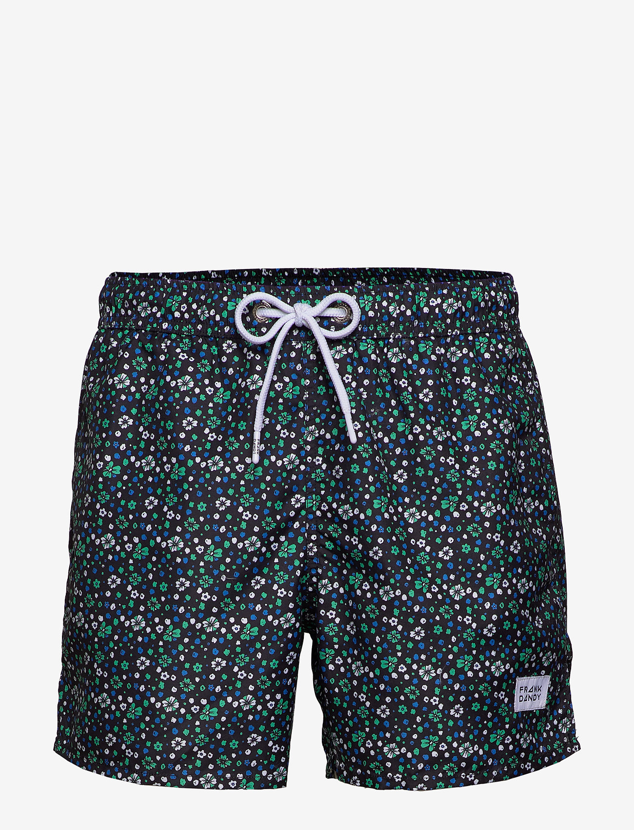 Frank Dandy - Blume Print Breeze - swim shorts - blue - 0