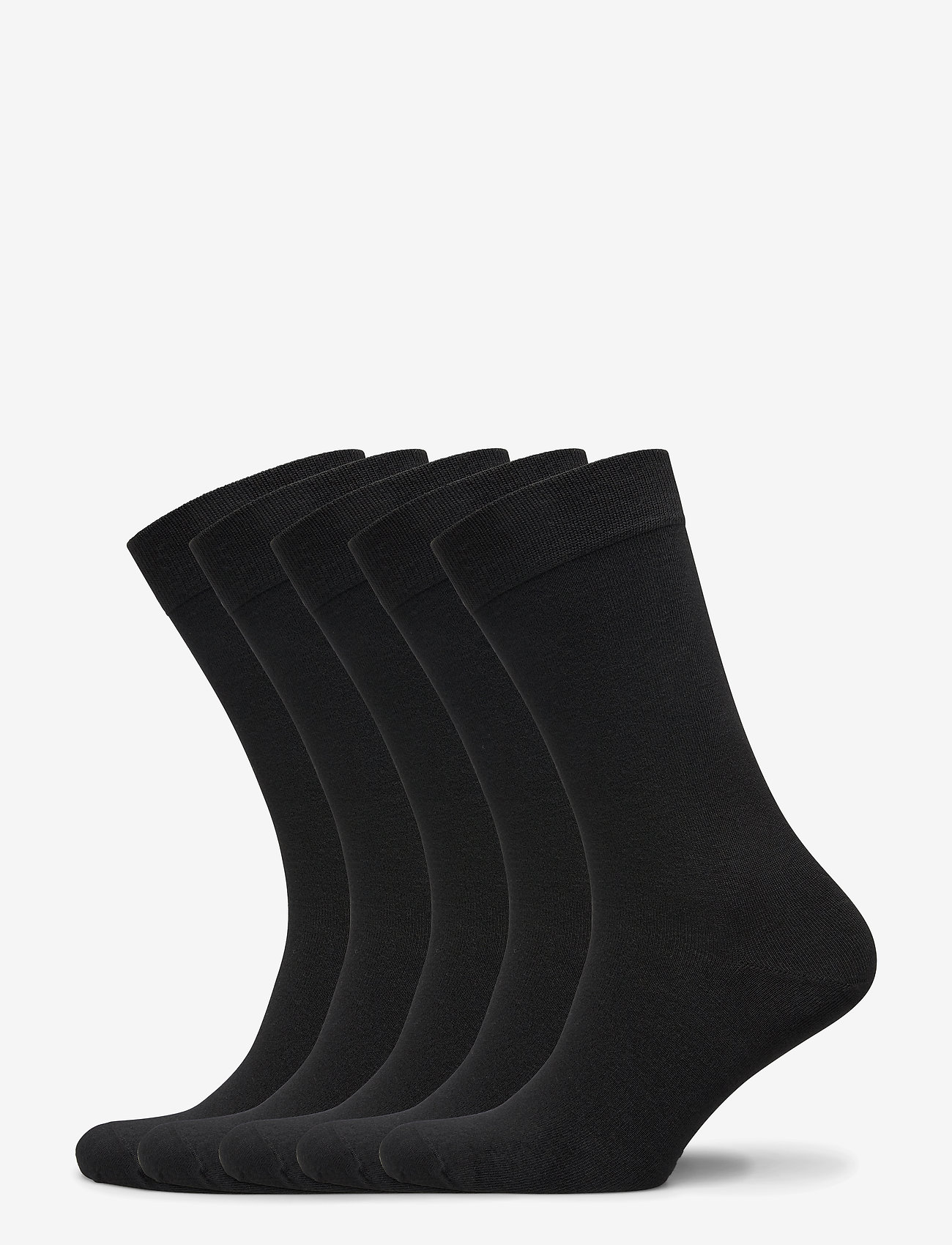 Frank Dandy - Bamboo Solid Crew Sock 5-pack - regular socks - black - 0