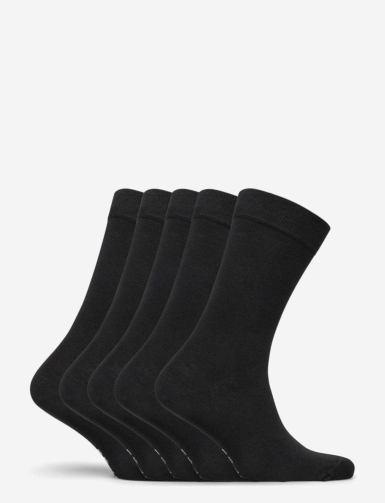 Frank Dandy - Bamboo Solid Crew Sock 5-pack - regular socks - black - 1