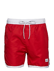 St Paul Long Bermuda Shorts - RED