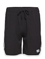 St Paul Bamboo Contrast shorts - BLACK