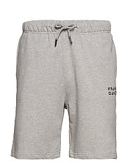 Unisex Solid Sweat Shorts - GREY MELANGE