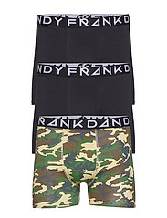 3 Pack Camo Boxer - GREEN/BLACK