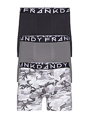 3 Pack Camo Boxer - GREY/BLACK