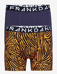 Frank Dandy - 2 Pack Tiger boxer - boxershorts - yellow/navy - 0