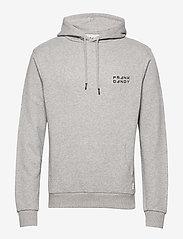 Frank Dandy - Unisex Solid Hoodie - basic sweatshirts - grey melange - 0