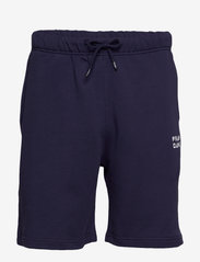 Frank Dandy - Unisex Solid Sweat Shorts - casual shorts - dark navy - 0