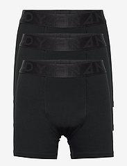 Frank Dandy - Boy's 3-pack Legend Organic Cotton Boxer - nat- & undertøj - black - 0