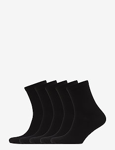 5P Bamboo Solid Crew Sock - BLACK