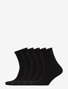 5P Bamboo Solid Crew Sock - BLACK