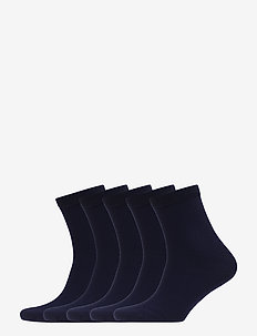 5P Bamboo Solid Crew Sock - DARK NAVY
