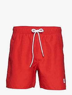 Breeze Long Swim Shorts - swim shorts - red