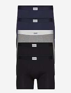 5P. Legend Organic Boxer Box - BLACK/DARK NAVY/GREY MELANGE