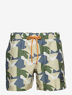 FD x ALX TM Camo swimshorts - GREEN