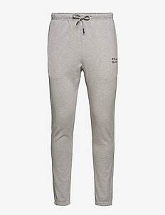 Unisex Solid Sweat Pants - GREY MELANGE