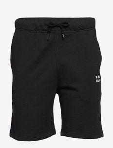 Unisex Solid Sweat Shorts - BLACK