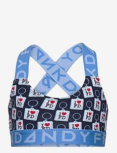 Girl's Key Ring Sports Bra - tops - dark blue