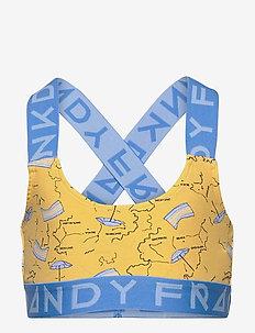 Girl's I-Beach-A Sports Bra - tops - yellow