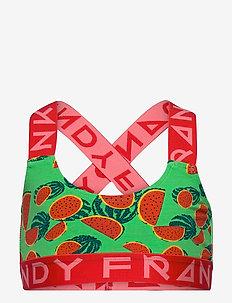 Girl's Melonas Sports Bra - tops - green