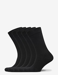 Bamboo Solid Crew Sock 5-pack - regular socks - black