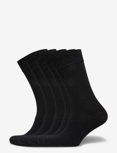 Bamboo Solid Crew Sock - vanliga strumpor - black