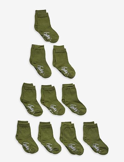 A. Solid Crew Sock - skarpetki - military