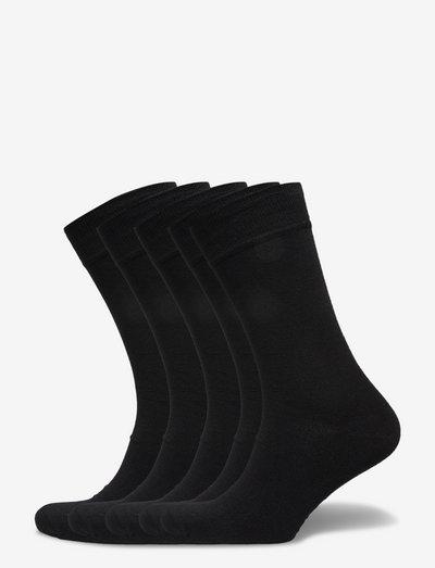 Bamboo Solid Crew Sock - almindelige strømper - black