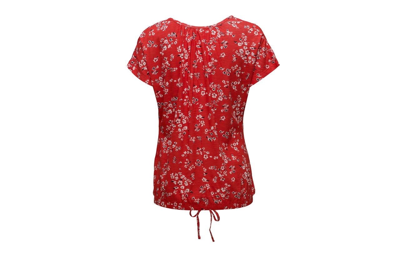 1 Fransa T shirt Viscose 100 Mix Omnice Fiery Red UrrBWnaFR