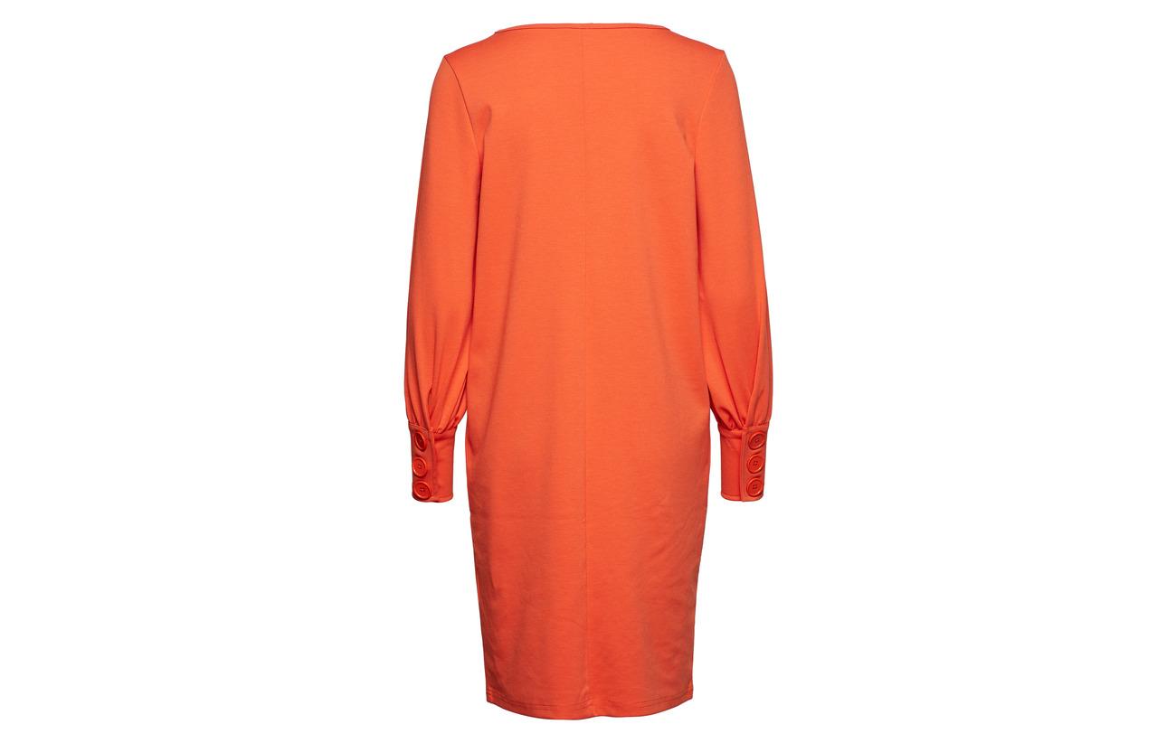 Viscose Red Elasta Fransa 21 74 Orange Dress 1 Polyester Bemilano 5 qww8Z6SF