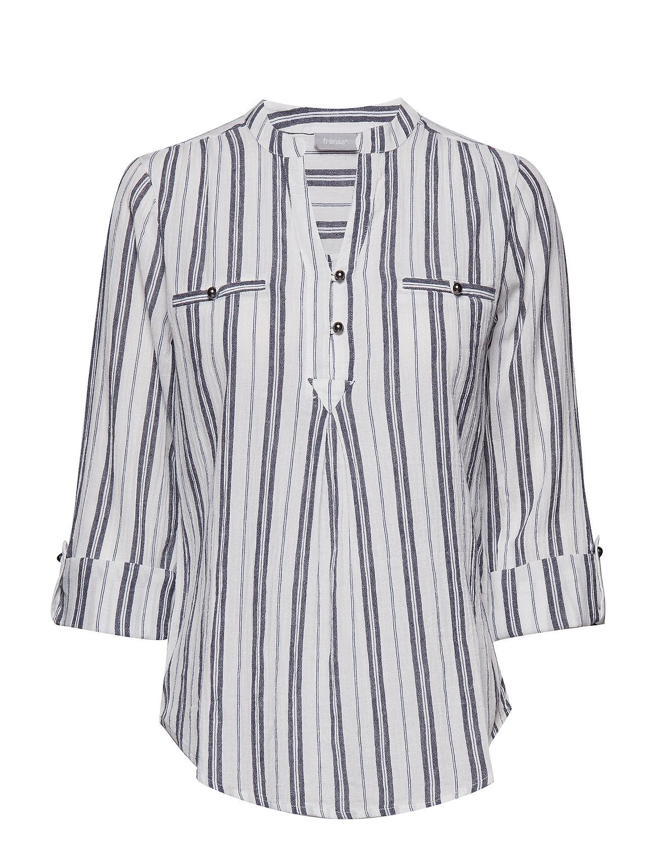 f2e84e7e ANTIQUE MIX Fransa Bastripe 1 Blouse kortærmede skjorter for dame ...