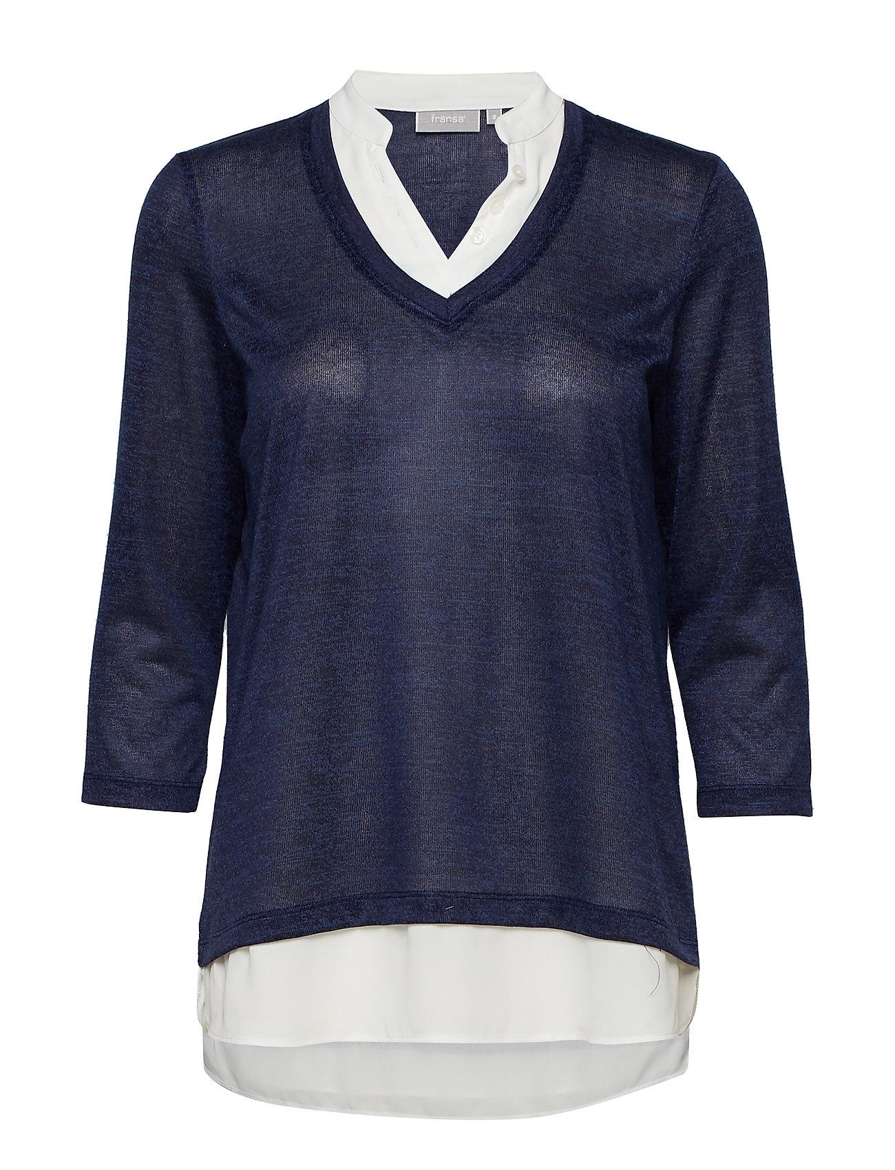 Frcipirexa 1 T Shirt Langærmet Skjorte Blå FRANSA
