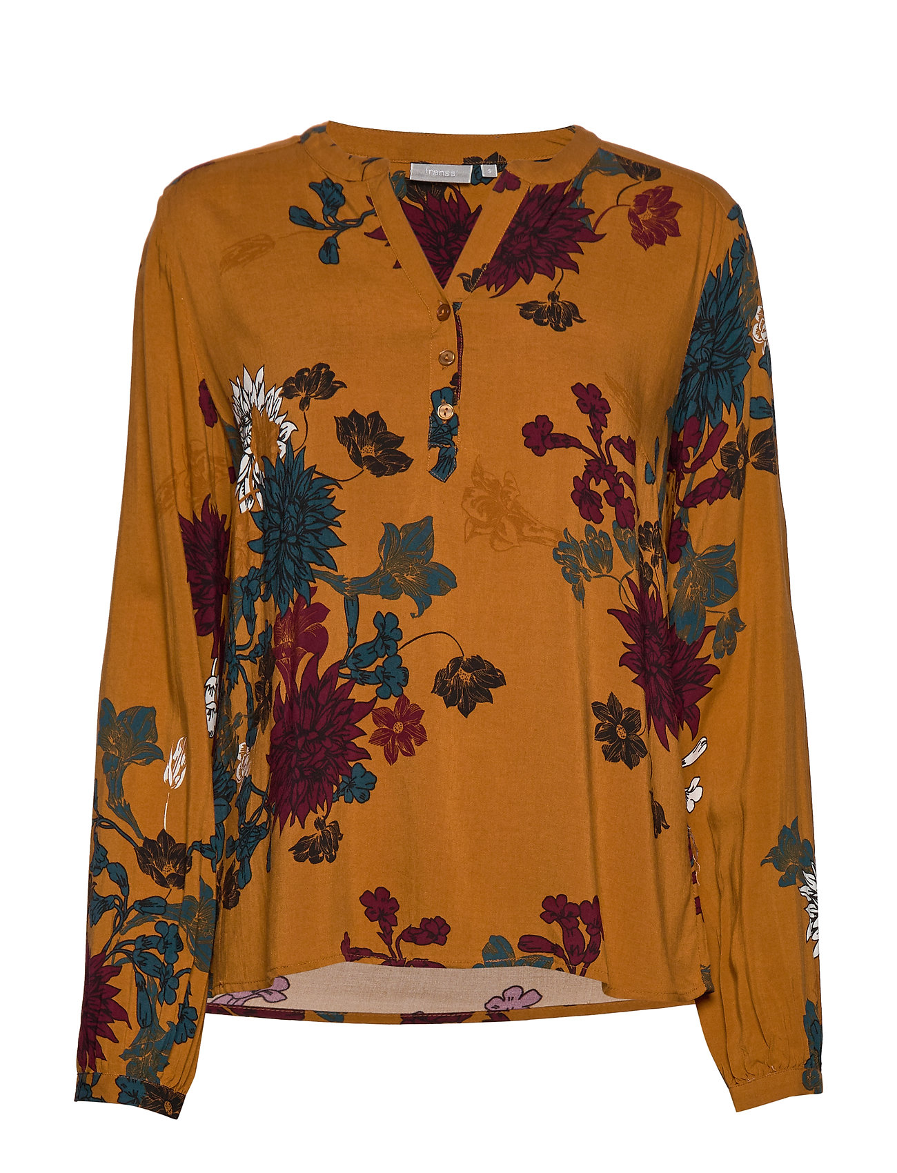 Fransa FRFACAMPA 1 Blouse - FLOWER - CATHAY SPICE MIX