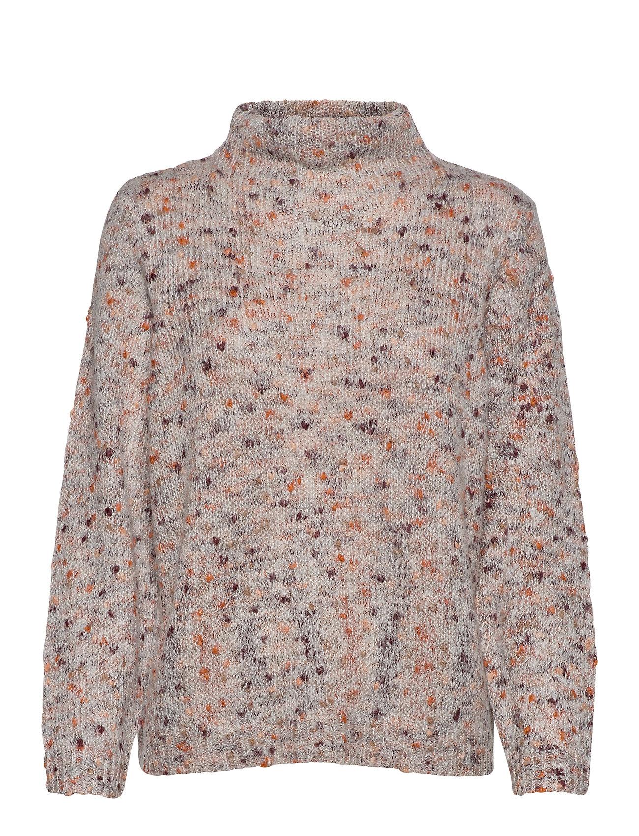 Fransa FRFISPOT 1 Pullover - TAWNY PORT MIX
