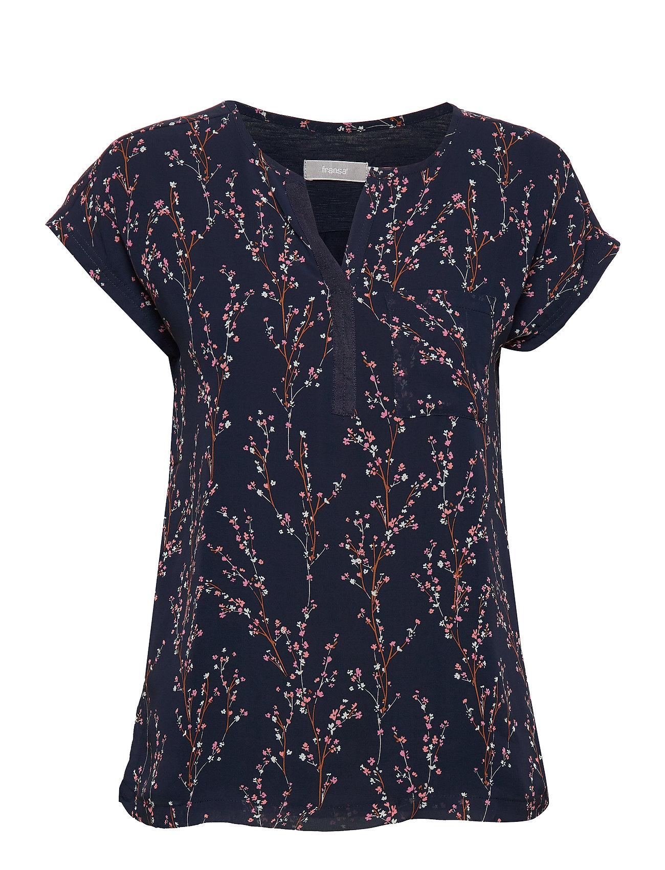 Image of Zawov 8 Top Blouses Short-sleeved Blå Fransa (3347377373)