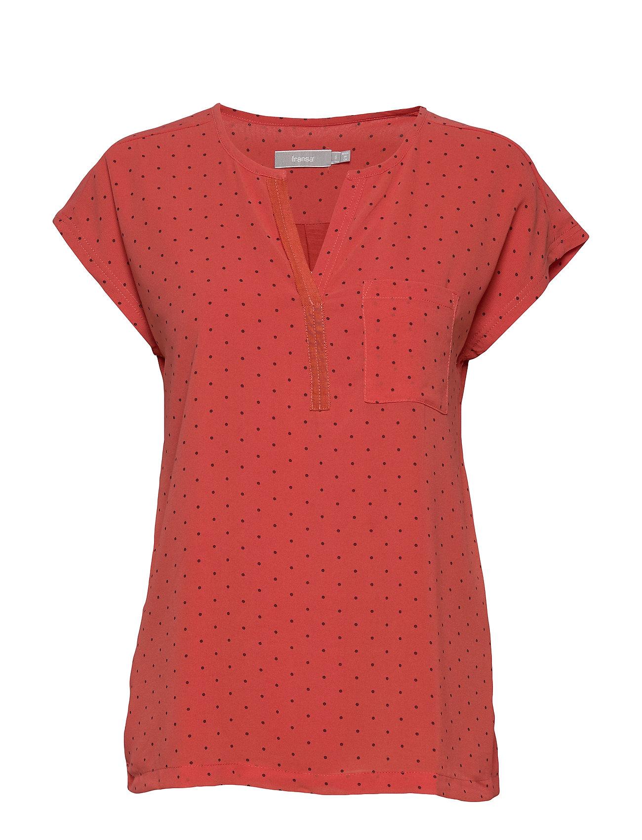 Image of Zawov 8 Top Blouses Short-sleeved Rød Fransa (3339884389)