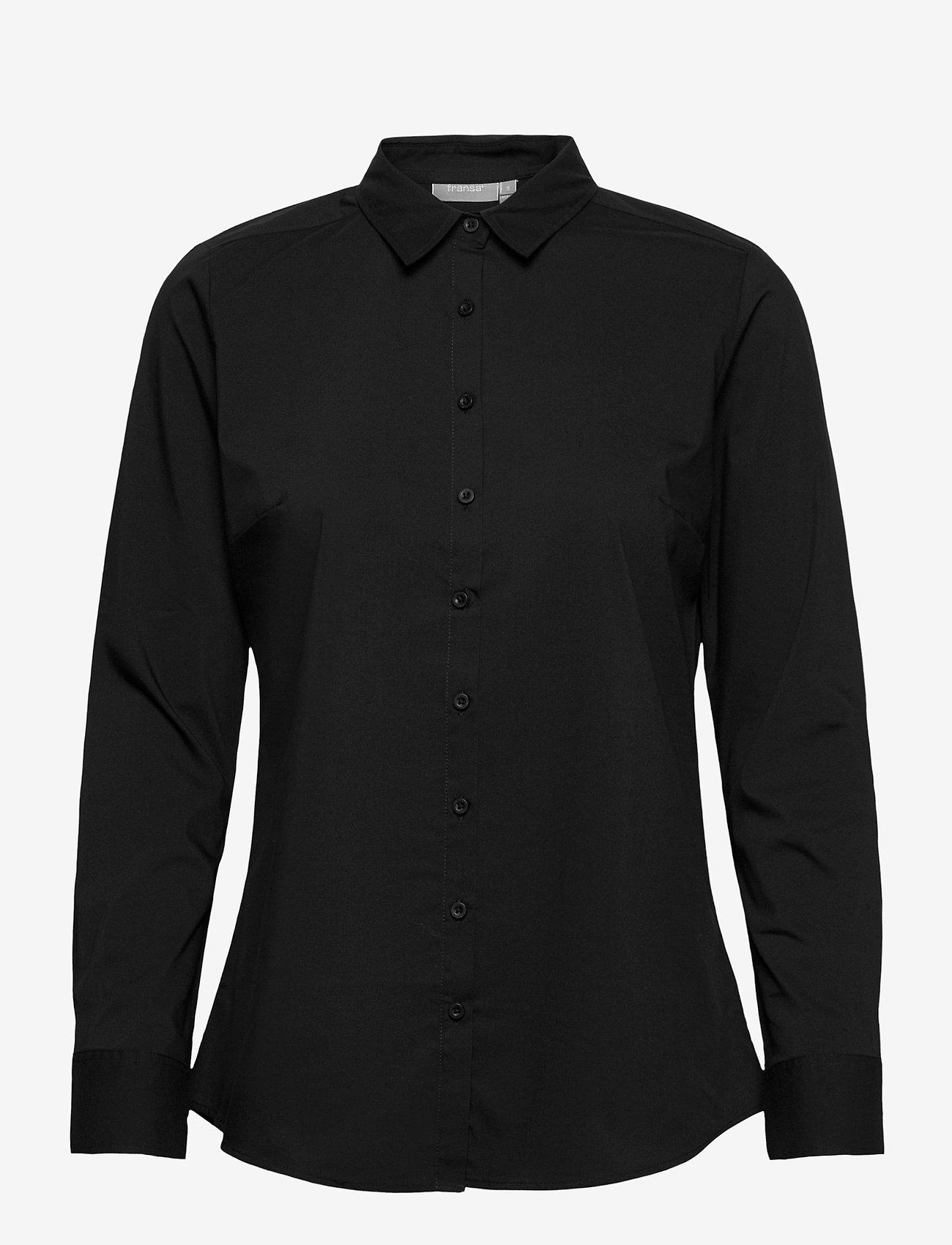 Fransa - Zashirt 1 Shirt - pitkähihaiset paidat - black - 0